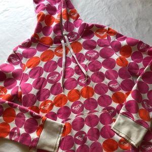 Roxy Hoodie Pink/ Orange Polka-dot Logo hoodie